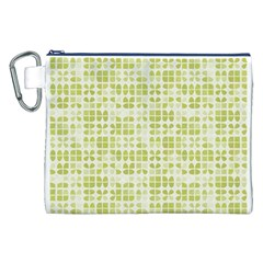 Pastel Green Canvas Cosmetic Bag (xxl)  by FunkyPatterns