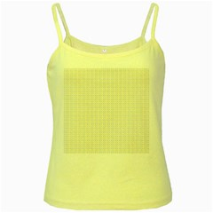 Pastel Pattern Yellow Spaghetti Tank by FunkyPatterns
