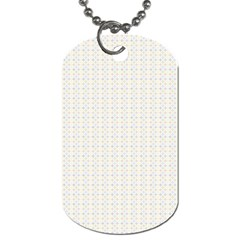 Pastel Pattern Dog Tag (two Sides) by FunkyPatterns