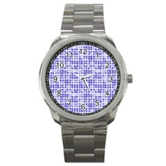 Pastel Purple Sport Metal Watch by FunkyPatterns