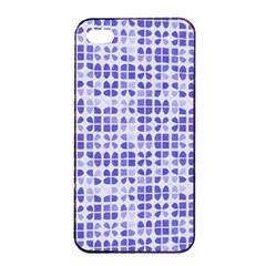 Pastel Purple Apple Iphone 4/4s Seamless Case (black) by FunkyPatterns