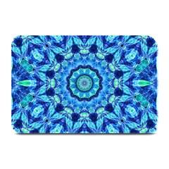 Blue Sea Jewel Mandala Plate Mat by Zandiepants