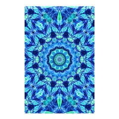Blue Sea Jewel Mandala Shower Curtain 48  X 72  (small) by Zandiepants