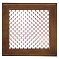 Small Pink Owls Framed Tiles by CircusValleyMall