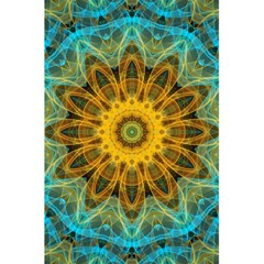 Blue Yellow Ocean Star Flower Mandala 5 5  X 8 5  Notebook by Zandiepants