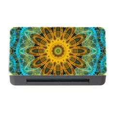 Blue Yellow Ocean Star Flower Mandala Memory Card Reader With Cf by Zandiepants