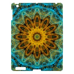 Blue Yellow Ocean Star Flower Mandala Apple Ipad 3/4 Hardshell Case by Zandiepants