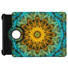 Blue Yellow Ocean Star Flower Mandala Kindle Fire Hd Flip 360 Case by Zandiepants