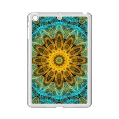 Blue Yellow Ocean Star Flower Mandala Apple Ipad Mini 2 Case (white) by Zandiepants