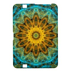 Blue Yellow Ocean Star Flower Mandala Kindle Fire Hd 8 9  Hardshell Case by Zandiepants
