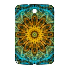 Blue Yellow Ocean Star Flower Mandala Samsung Galaxy Note 8 0 N5100 Hardshell Case  by Zandiepants
