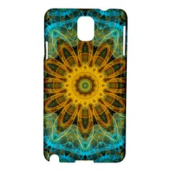 Blue Yellow Ocean Star Flower Mandala Samsung Galaxy Note 3 N9005 Hardshell Case by Zandiepants