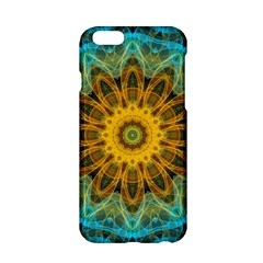 Blue Yellow Ocean Star Flower Mandala Apple Iphone 6/6s Hardshell Case by Zandiepants