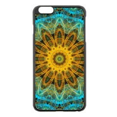 Blue Yellow Ocean Star Flower Mandala Apple Iphone 6 Plus/6s Plus Black Enamel Case by Zandiepants