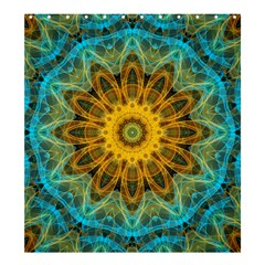 Blue Yellow Ocean Star Flower Mandala Shower Curtain 66  X 72  (large) by Zandiepants