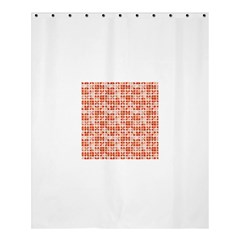 Pastel Red Shower Curtain 60  X 72  (medium)  by FunkyPatterns