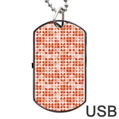 Pastel Red Dog Tag Usb Flash (one Side) by FunkyPatterns