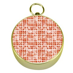 Pastel Red Gold Compasses by FunkyPatterns