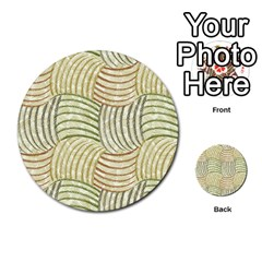 Pastel Sketch Multi Purpose Cards (round)  by FunkyPatterns