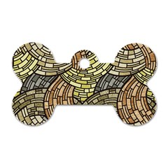 Whimsical Dog Tag Bone (one Side) by FunkyPatterns