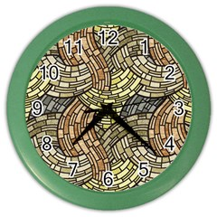 Whimsical Color Wall Clocks by FunkyPatterns