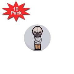 Dr  Lecter 1  Mini Buttons (10 Pack)  by lvbart