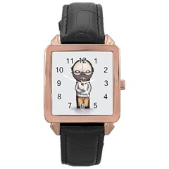 Dr  Lecter Rose Gold Leather Watch  by lvbart