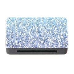 Blue Ombre Feather Pattern, White, Memory Card Reader With Cf by Zandiepants