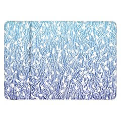 Blue Ombre Feather Pattern, White, Samsung Galaxy Tab 8 9  P7300 Flip Case by Zandiepants