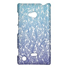 Blue Ombre Feather Pattern, White, Nokia Lumia 720 Hardshell Case by Zandiepants