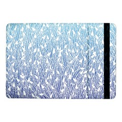 Blue Ombre Feather Pattern, White, Samsung Galaxy Tab Pro 10 1  Flip Case by Zandiepants