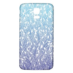Blue Ombre Feather Pattern, White, Samsung Galaxy S5 Back Case (white) by Zandiepants