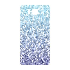 Blue Ombre Feather Pattern, White, Samsung Galaxy Alpha Hardshell Back Case by Zandiepants