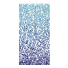 Blue Ombre Feather Pattern, White, Shower Curtain 36  X 72  (stall) by Zandiepants