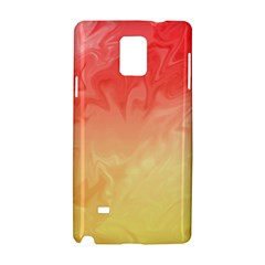 Ombre Orange Yellow Samsung Galaxy Note 4 Hardshell Case by BrightVibesDesign