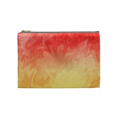 Ombre Orange Yellow Cosmetic Bag (medium)  by BrightVibesDesign