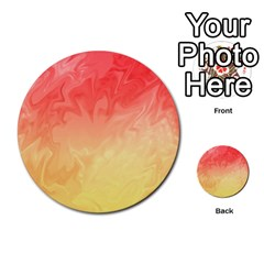 Ombre Orange Yellow Multi Purpose Cards (round)  by BrightVibesDesign