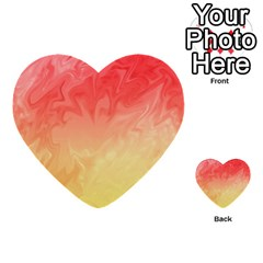 Ombre Orange Yellow Multi Purpose Cards (heart)  by BrightVibesDesign
