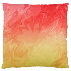 Ombre Orange Yellow Standard Flano Cushion Case (two Sides) by BrightVibesDesign
