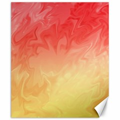 Ombre Orange Yellow Canvas 20  X 24   by BrightVibesDesign