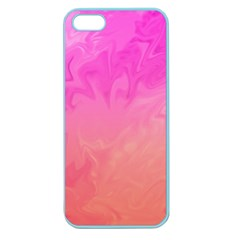 Ombre Pink Orange Apple Seamless Iphone 5 Case (color) by BrightVibesDesign