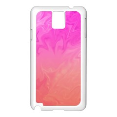 Ombre Pink Orange Samsung Galaxy Note 3 N9005 Case (white) by BrightVibesDesign