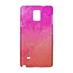 Ombre Pink Orange Samsung Galaxy Note 4 Hardshell Case by BrightVibesDesign