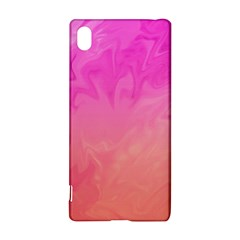 Ombre Pink Orange Sony Xperia Z3+ by BrightVibesDesign
