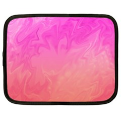 Ombre Pink Orange Netbook Case (xl)  by BrightVibesDesign
