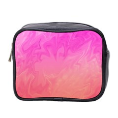 Ombre Pink Orange Mini Toiletries Bag 2 Side