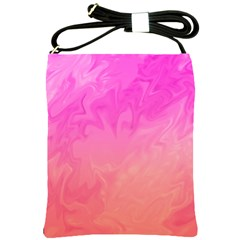 Ombre Pink Orange Shoulder Sling Bags by BrightVibesDesign