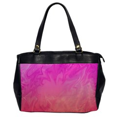 Ombre Pink Orange Office Handbags by BrightVibesDesign