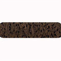 Brown Ombre Feather Pattern, Black, Large Bar Mat by Zandiepants