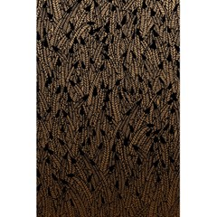 Brown Ombre Feather Pattern, Black, 5 5  X 8 5  Notebook by Zandiepants